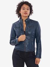 VAINAS European Brand Women Genuine leather jacket for women Real sheep Motorcycle jackets Biker Zate