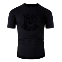 The New Hipster Popular Owl Suit Woodcut T Shirt For Men 2020 Gents Men T-Shirt Interesting Anti-Wrinkle Tee Top Vintage(China)