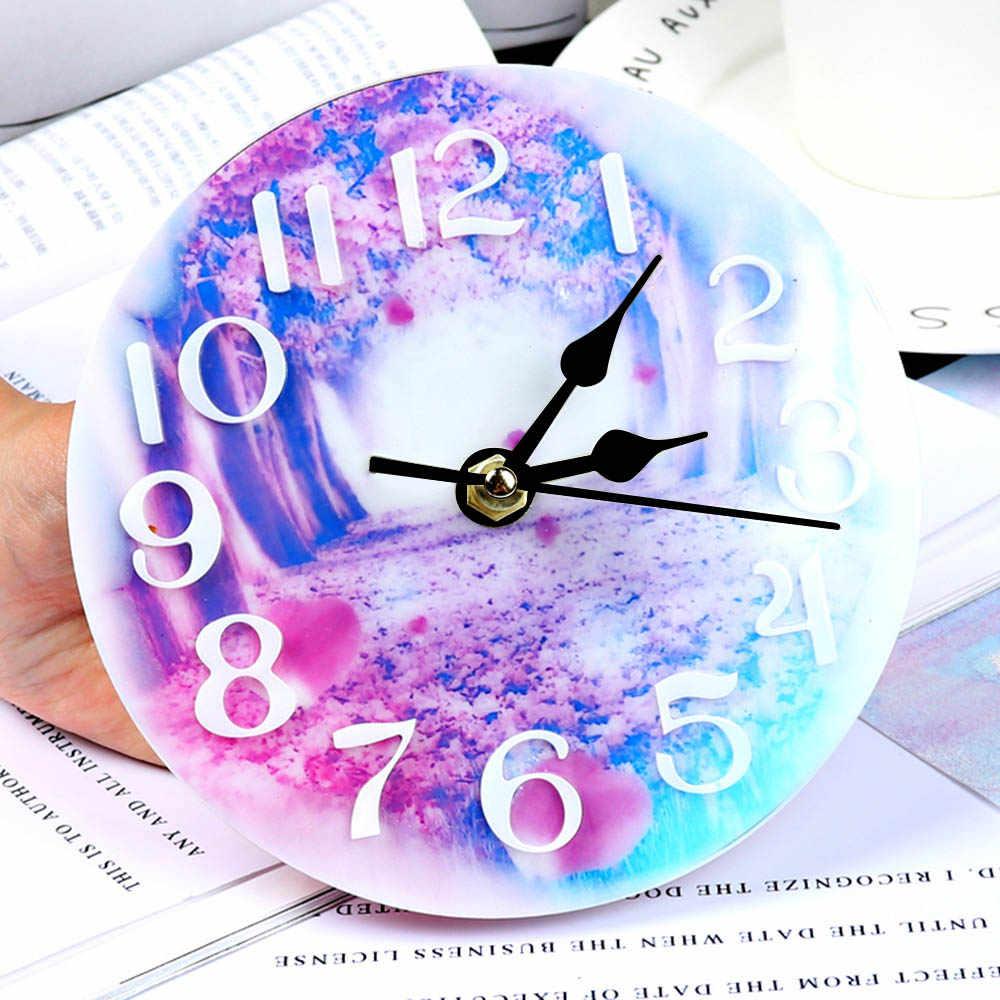 قالب من السيليكون على مدار الساعة للمجوهرات 10/15 سنتيمتر ساعة صغيرة وكبيرة الحجم الراتنج سيليكون قالب أداة اليدوية لتقوم بها بنفسك قوالب راتنجات الايبوكسي
