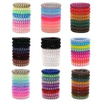 Cuerdas elásticas grandes y gruesas de plástico para el pelo para mujer, bandas de goma elásticas de varios colores para teléfono, regalo de personalidad, cola de caballo elástica, 9 Uds.