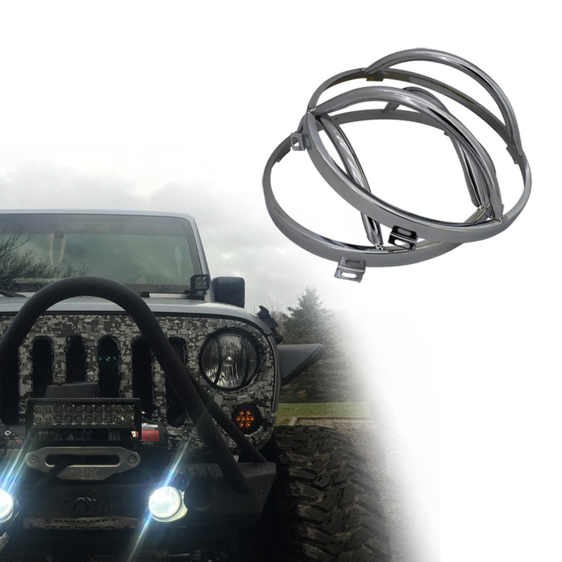 The Vectra 7 Inch Headlight Cover High Quality Full Metal Lamp Box Jeep Wrangler Headlight Confinement