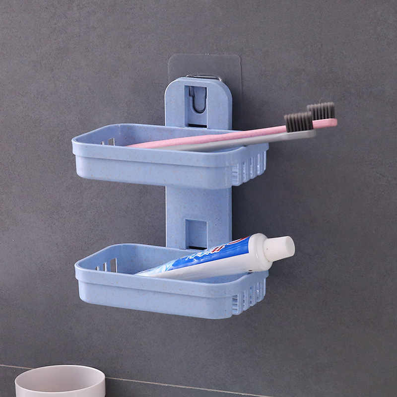 Podwójna warstwa mydło Box narzędzia kuchenne Kitchen Sink uchwyt na półkę łazienka półki do przechowywania mydła akcesoria
