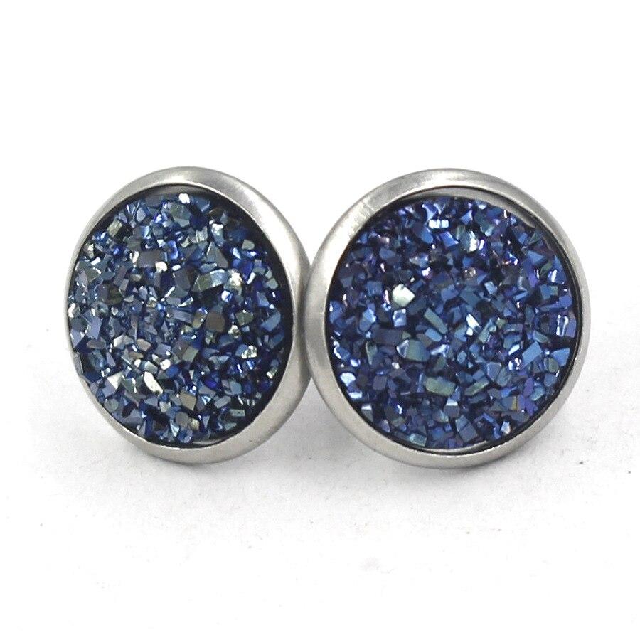 12mm Stainless Steel Ear Accessories Simple Sky Star Round Earrings Original Design Handmade Earrings