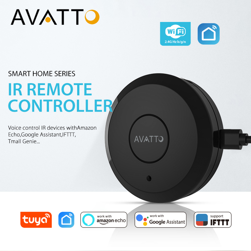 AVATTO S07 Tuya Universal Smart 2.4G WiFi IR Remote Control with Alexa Google Home Voice Control Infrared Smart Home Automation|Home Automation Modules| |  - title=