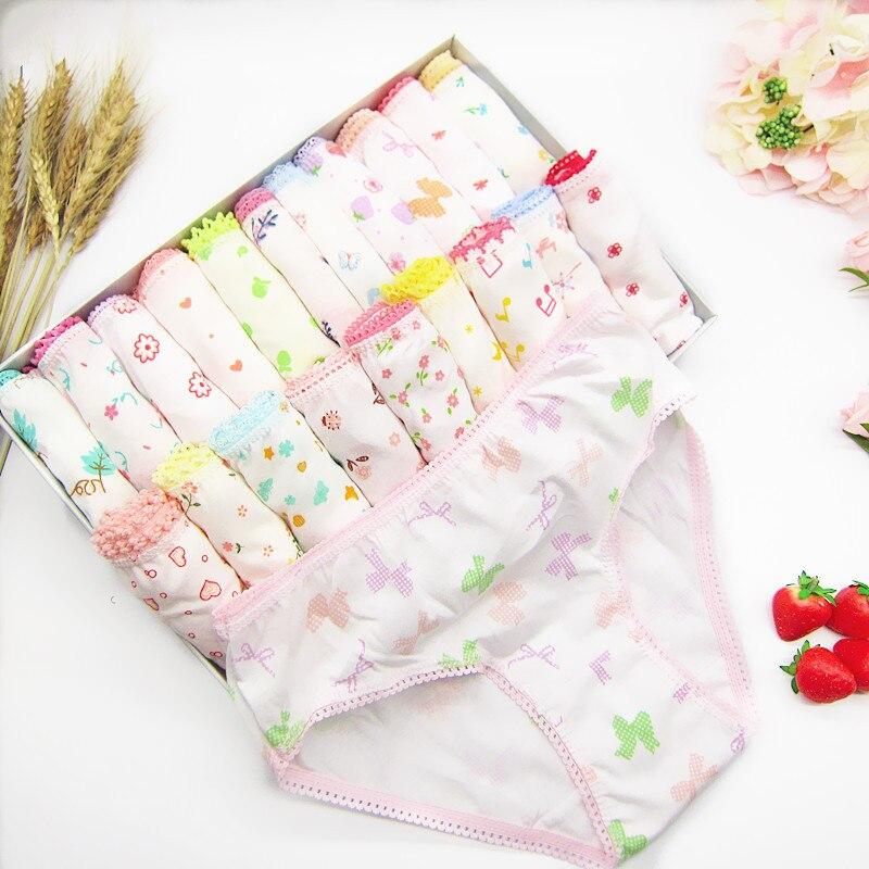 3 Pcs/lot Children's Cotton Underwear Female Cartoon Printed Baby Girls Underwear  Briefs Panties Girls  Underwear