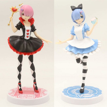 Anime Re Life In A Different World From Zero Remu Ramu Wonderland Ver PVC Action Figure Collectible Model doll toy 20cm 1 4 scale re life in a different world from zero rem ram bunny ver kneeling ver resin naked collection anime figures