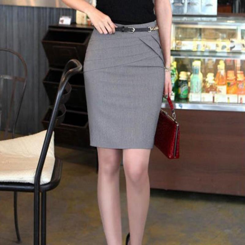 Модные весенне осенние сапоги выше колена размера плюс; Женская Повседневная элегантная женская обувь на высоких каблуках с завышенной талией, ботинки с декором гофре до колена юбка длиной до середины икры, деловой костюм Юбки    АлиЭкспресс