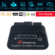 Scanner obd para carro, scanner automotivo para honda civic crv accord odyssey jazz 25k80 ferramentas,