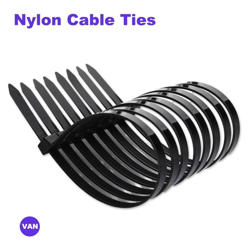 100 adet plastik yeniden kullanılabilir kablo bağları 8*150/200/250/300/350/400/450 çıkarılabilir naylon olabilir gevşek Slipknot inç geri dönüşüm yüksek kaliteli