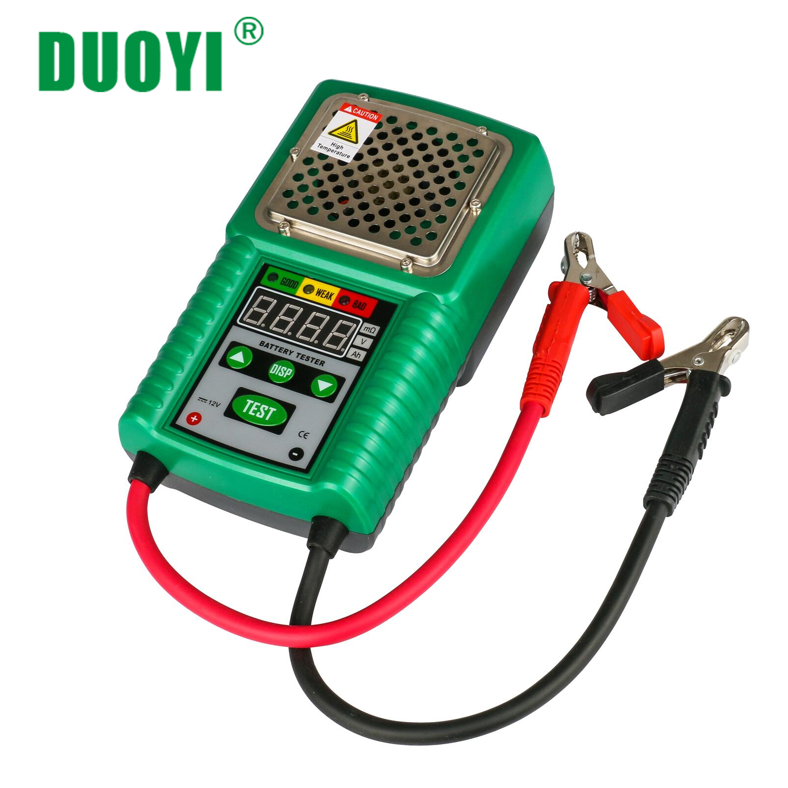 DUOYI DY226 Automotive Battery Tester 6V and 12V DC 4 Digits Display for UPS Battery Solar Energy Storage Battery Marine Battery