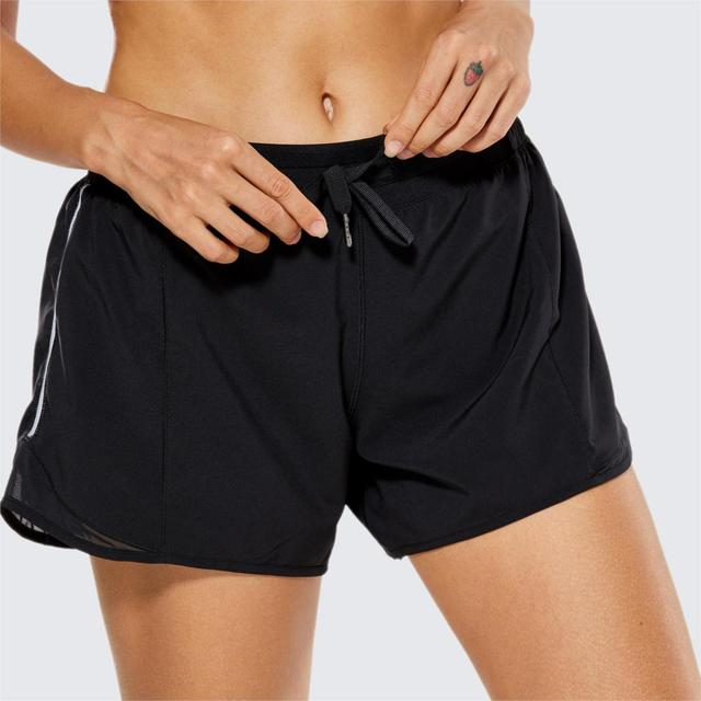 La Isla Women's Fitness Sports Gym Athletic Running Shorts with Pocket-4 Inches 1