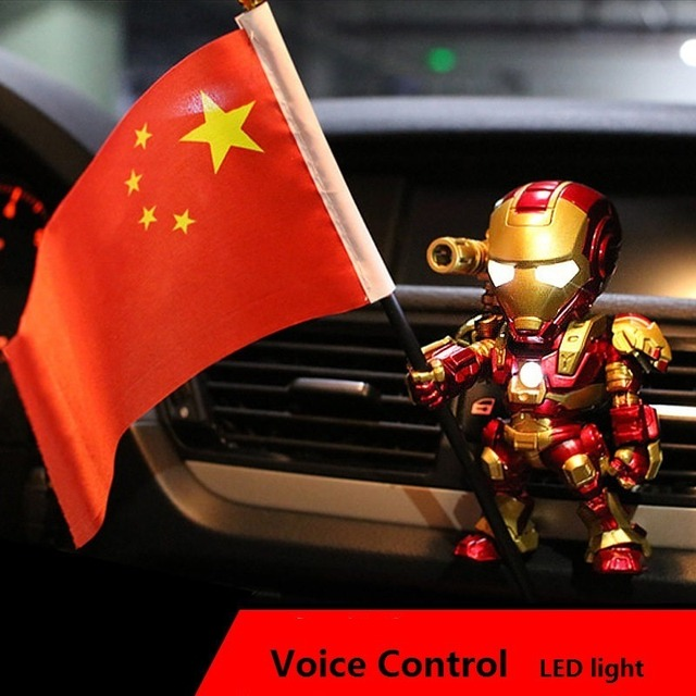 Acecorner Home Decoration Car Perfume Iron Man Outlet Perfume Original Auto Perfumes Air Freshener Decor Conditioning Vent Clip 3