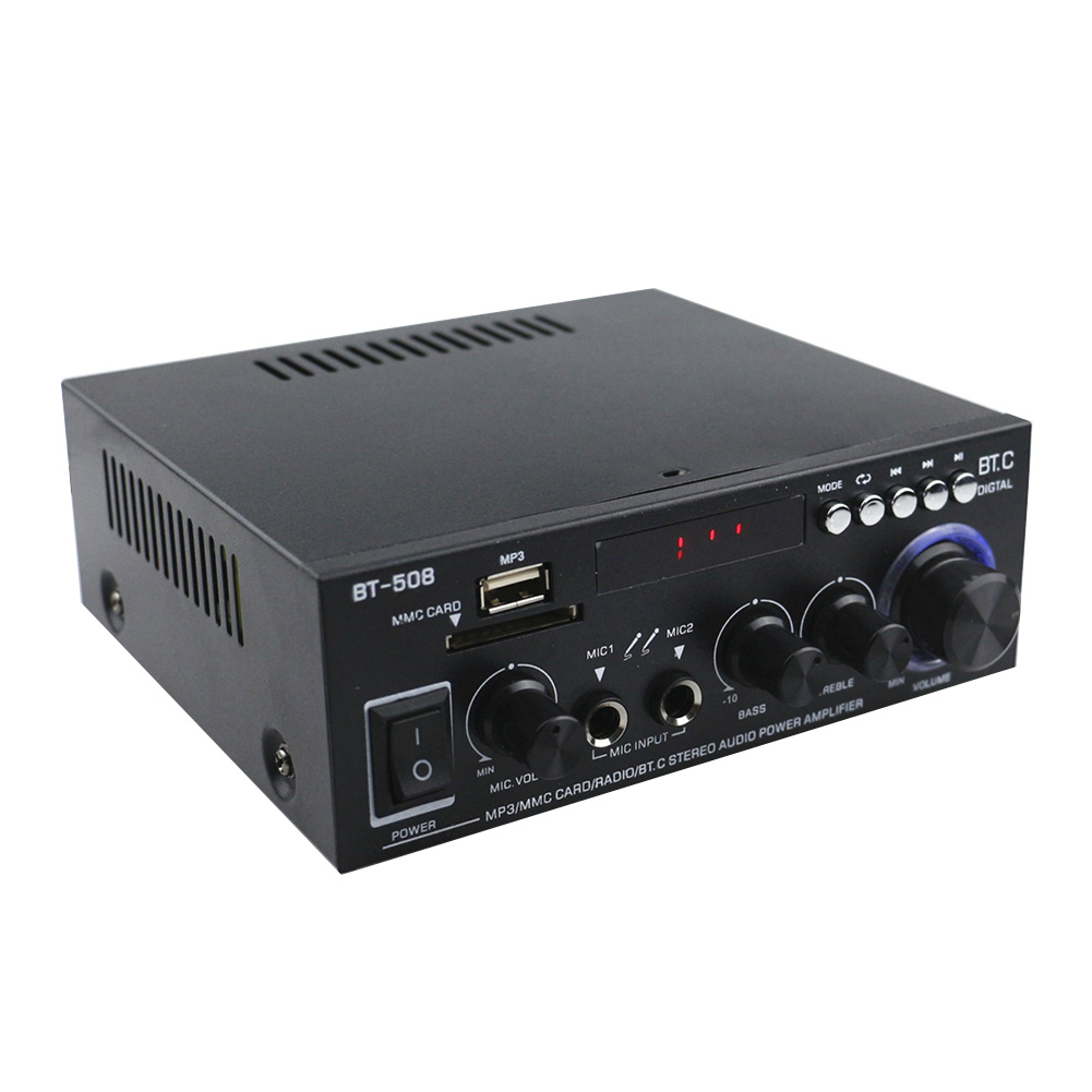 600W Subwoofer Bluetooth Digital FM Radio <font><b>HIFI</b></font> Music Bass Sound System Power <font><b>Amplifier</b></font> Dual Channel Mini Car Home Stereo Audio image