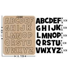 새로운 편지 A Z 나무 죽을 Scrapbooking C 2285 여러 가지 크기를 절단