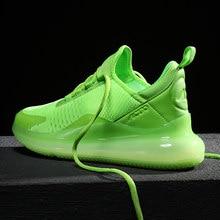Zapato de correr para hombres adultos entrenador atlético Max tamaño 39-46 amortiguación al aire libre aliento calzado deportivo para gimnasio deporte Zapatos de los hombres, Rojo, Verde