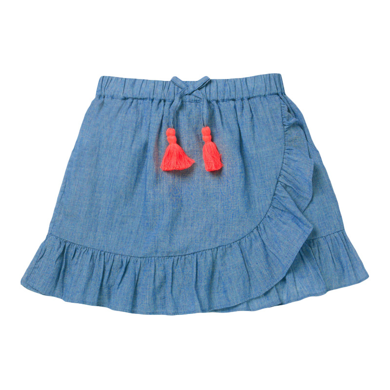 Little Maven Summer Baby Girl Clothes Denim Color Cotton Mini Unicorn Denim Color Lolita School Cute Skirts for Kids 2-7 Years 6