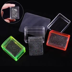 Image 1 - 1 Juego de rasquetas estampador de uñas de silicona, transparente, Asa transparente, para estampado de plantillas, bricolaje, herramientas de manicura