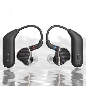 Image 1 - Para fiio utws1 mmcx adaptador de fone ouvido bluetooth conversor porto verdadeiro sem fio fones ouvido gancho dinâmico & armadura