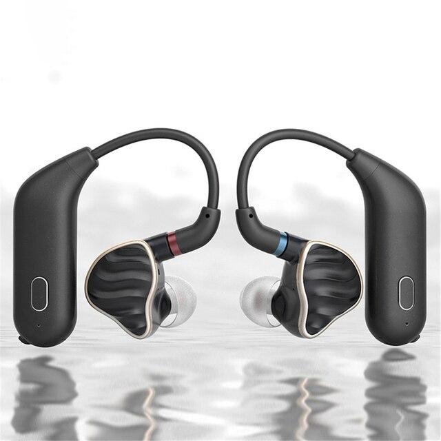 Para fiio utws1 mmcx adaptador de fone ouvido bluetooth conversor porto verdadeiro sem fio fones ouvido gancho dinâmico & armadura