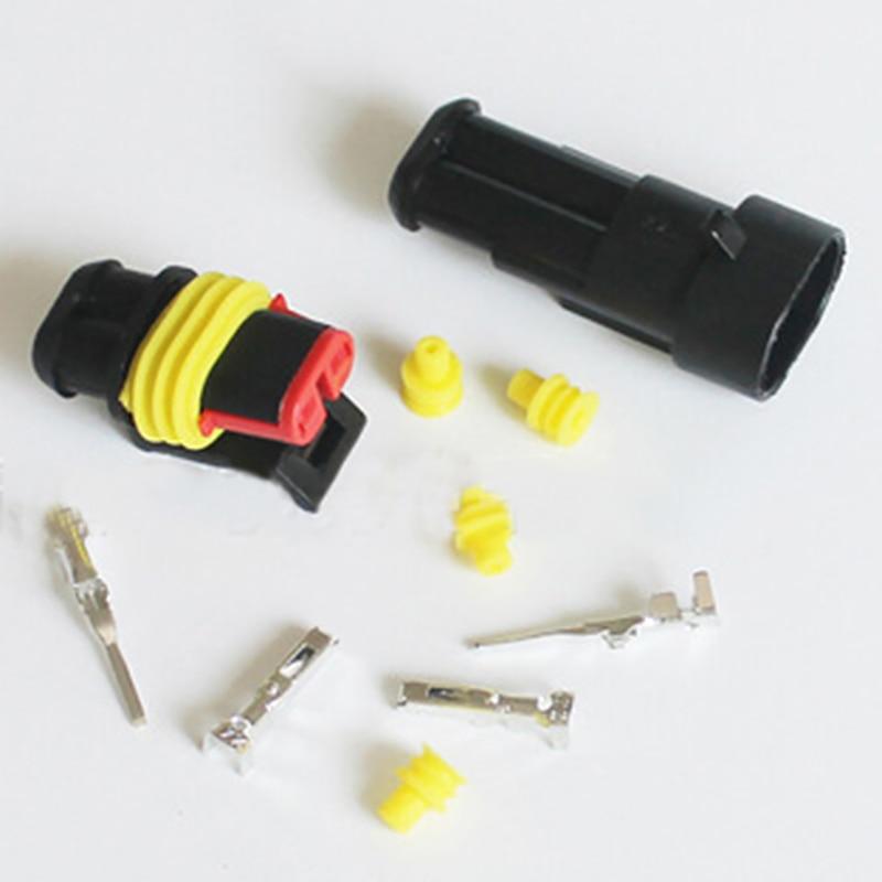 Işıklar ve Aydınlatma'ten Konnektörler'de 26 takım/kutu 1/2/3/4 yollu su geçirmez araba oto elektrikli tel konnektörü fişi 300V 16A 1 4 pin elektrik kablosu bağlayıcı tak kiti title=