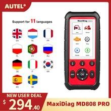 Autel MD808 Pro Tất Cả Hệ Thống OBD2 Máy Quét Xe Công Cụ Chẩn Đoán Sự Kết Hợp Của Động Cơ, Truyền Dẫn Tốt Hơn Phóng X431