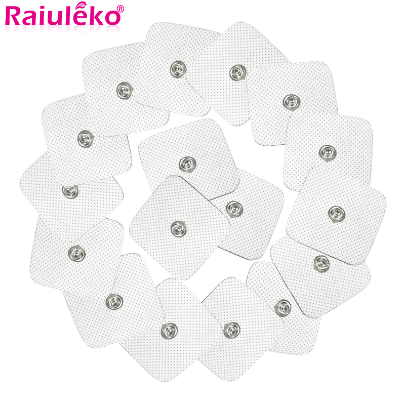 10Pcs/lot 4*4cm Electrode Pads For Tens Acupuncture Physiotherapy Machine Ems Nerve Muscle Stimulator Slimming Massager Patch
