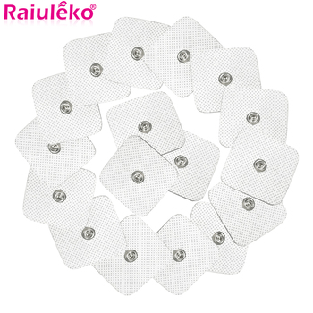 10Pcs/lot 4*4cm Electrode Pads For Tens Acupuncture Physiotherapy Machine Ems Nerve Muscle Stimulator Slimming Massager Patch - sale item Health Care