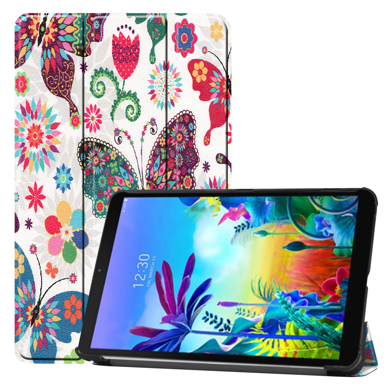 """PU Leather Case For LG G Pad 5 10.1"""" FHD LM-T600L Slim Magnetic Folding cover case for G Pad 5 10 inch"""
