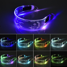 LED Glasses Costume Led-Toys Light-Up El-Wire Cyberpunk Neon Party Rave Luminous Goggles