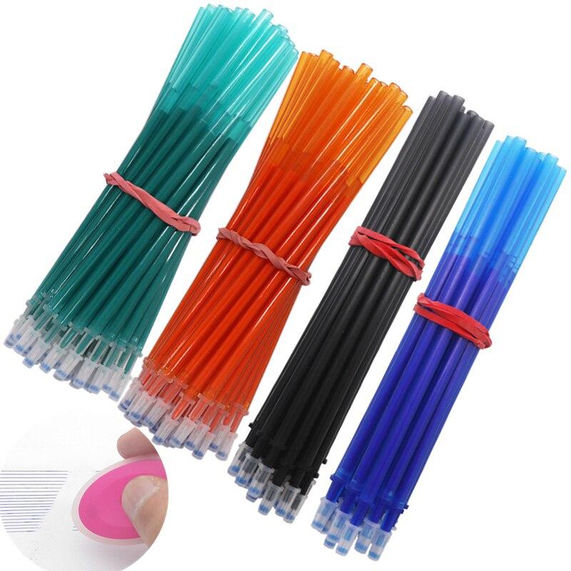 20Pcs/ Lot Erasable Refill Set Washable Handle Erasable Gel Pen 0.5mm Blue Black Ink School Office Writing Stationery