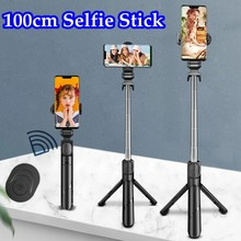 70cm 100cm Bluetooth selfie stick tripod for Mobile Phone Holder retractable Mini palo selfie selfie stick For Live broadcast