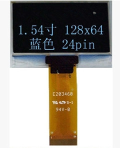 Image 2 - شاشة عرض OLED زرقاء 1.54 بوصة 24 بوصة SPI SSD1309 محرك IC 128*64 I2C/8Bit واجهة متوازية