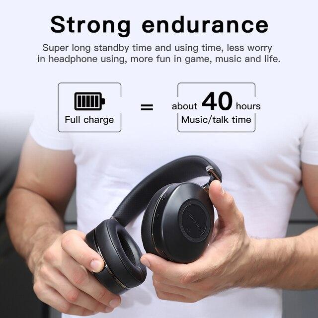Bluedio H2 Bluetooth 5.0 Headphones ANC Headset HIFI sound SD card slot 4