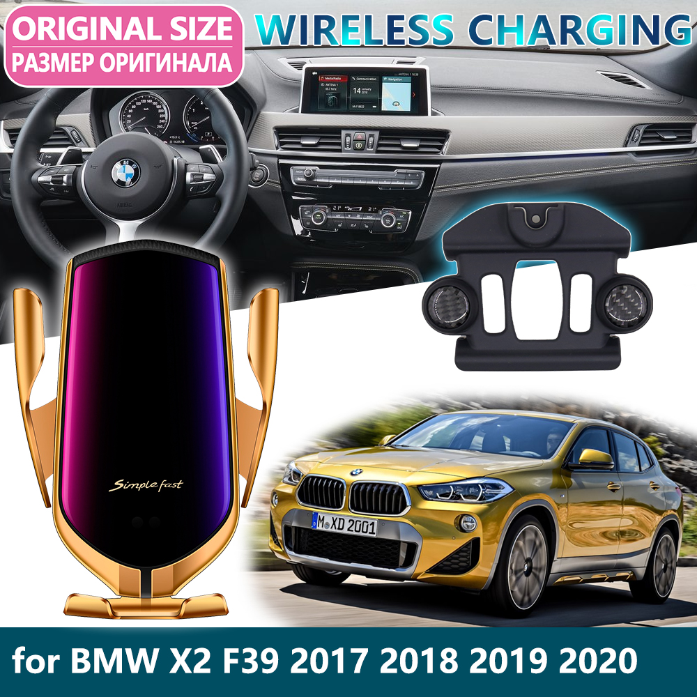 Car Mobile Phone Holder <font><b>for</b></font> <font><b>BMW</b></font> <font><b>X2</b></font> F39 2017 2018 2019 2020 <font><b>GPS</b></font> Rotatable support Telephone voiture Bracket Car Accessories image