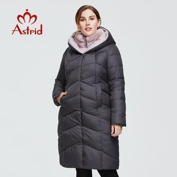 Astrid 2020 delle Nuove donne di Inverno cappotto lungo delle donne caldo parka Giacca moda con pelliccia Del Coniglio con cappuccio di grandi dimensioni femminile abbigliamento 6710 1