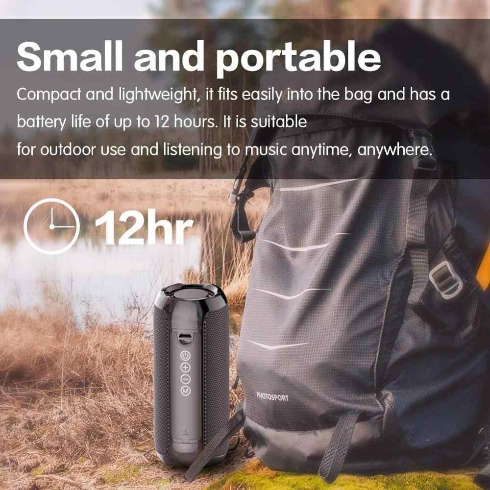 Portabel Bluetooth Speaker 20w Nirkabel Bass Kolom Tahan Air Luar Ruangan Speaker Mendukung AUX TF USB Subwoofer Stereo Loudspeaker