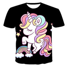 The Latest Summer Male And Female Personality Cute Unicorn Animation Series 3d Popular Casual Short-Sleeved T-Shirt Xxs-6xl