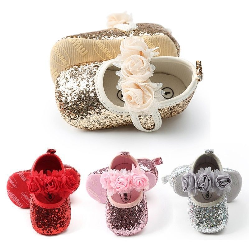 Bowknot Toddler Baby Girls Shoes Newborn Infant Princess Shoes First Walkers Hairband Baby Girl Birthday Party Shoes Summer