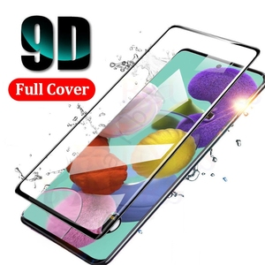 Tempered Glass For Samsung A51 A71 Screen Protector For Samsung Galaxy A 51 71 SM-A515F A515 SM-A715F Full Cover Safety glass 9H(China)