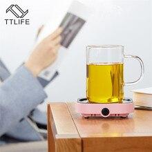 Ttlife novo aquecedor usb temperatura constante aquecimento coaster máquina de chá elétrica desktop máquina leite quente garrafa do bebê leite quente