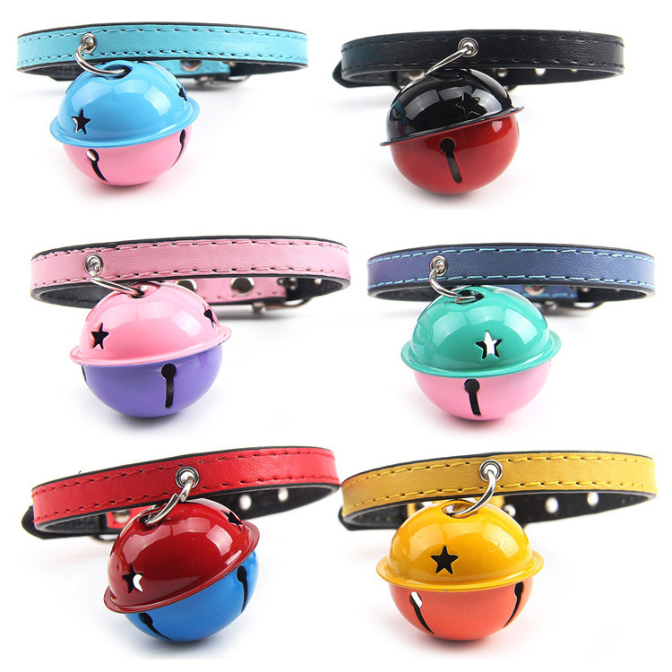 Color Large Bell Pet Collar Cat Collar 1.0 Cm Dog Collar Supplies Multi-color Selectable