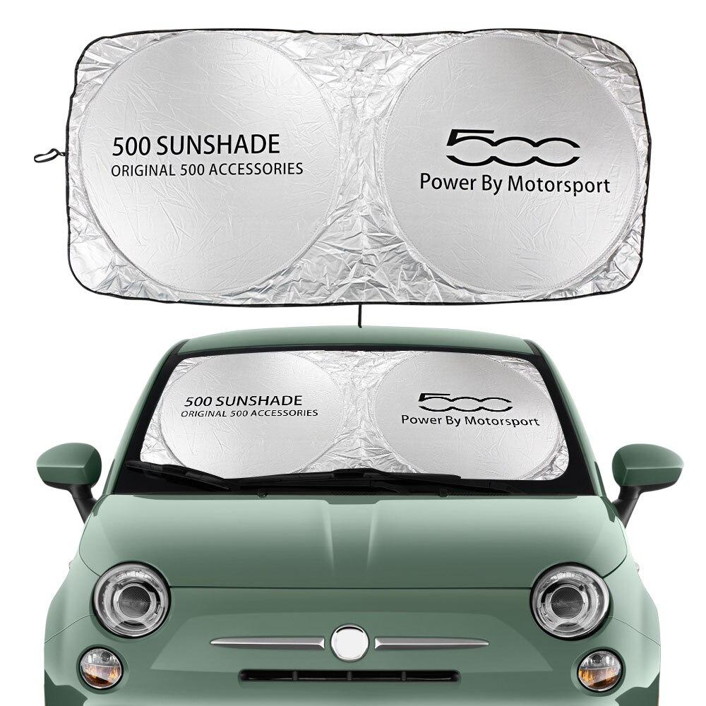 Auto Windschutzscheibe Sonnenschutz Abdeckung Für Fiat 500 Abarth Trim 1,4 L Turbo X Sport Auto Zubehör Blöcke UV Rays sonnenblende Protector