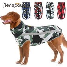 Benepaw chaud chien veste manteau réfléchissant laisse trou imperméable réglable chiot vêtements pour animaux de compagnie pour petit moyen gros chiens vêtements