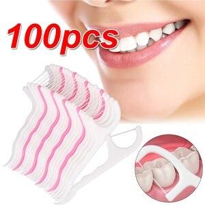 100 Pcs Floss Oral Care Teeth