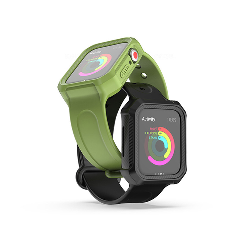 Suitable For APPLE Watch4 S Smart Watch Silicone Case + Sports Watch Strap Clock Cover One-piece