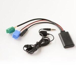 Автомобильный Bluetooth 5,0 Aux-кабель, микрофон, свободные руки, адаптер для вызова для Renault Megane 2, список обновлений, радио