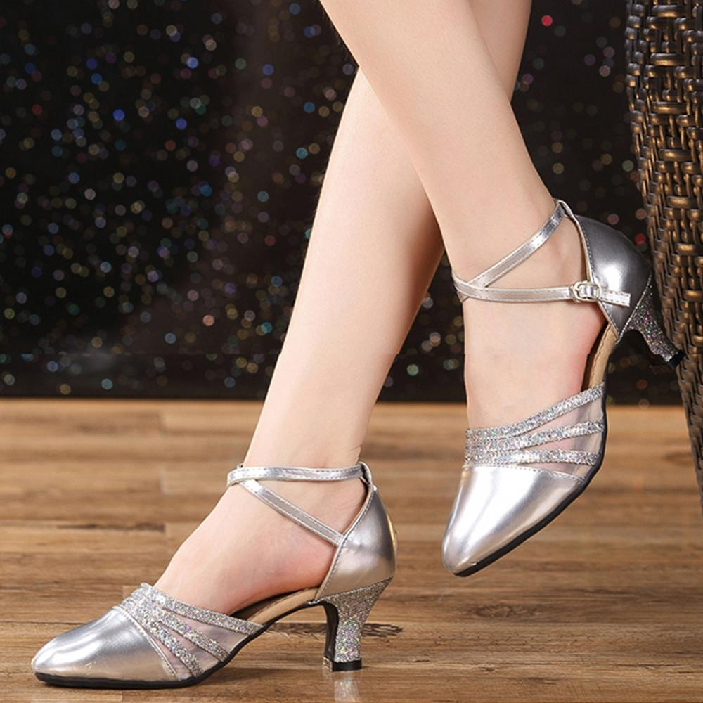 Brand New Latin Dance Shoes Modern Women Ballroom Tango Girls Ladies 3.5/5.5CM Heels With Softsole Sequins Cloth Dropshipping