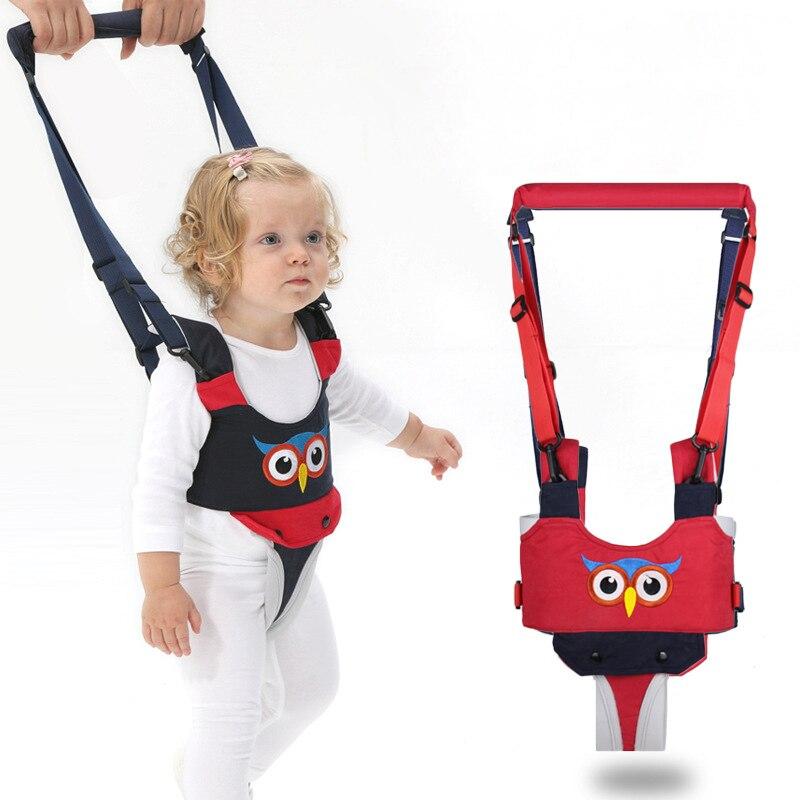 Baby Safety Harness Walking Assistant Adjustable Shoulder Chest Support Walker Owl Toddler Walk Learning Belt Removable Crotch