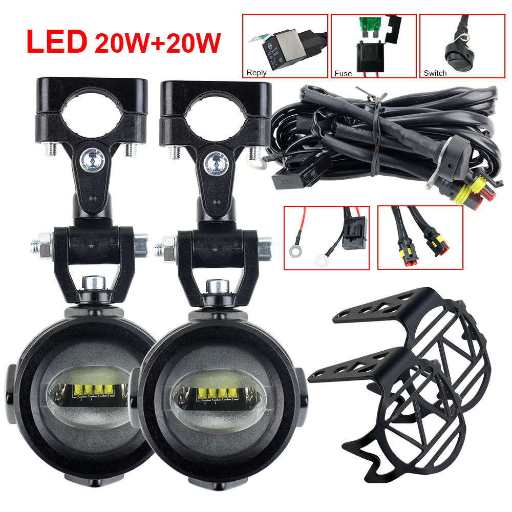 Auxiliary fog Lamp Front Brackets Led Driving Light for BMW R1200GS Adventure LC F650GS F800GS F700GS Motorcycle Headlights