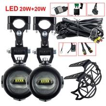 Faros antiniebla auxiliares para motocicleta, luz led con soportes delanteros para modelos BMW R1200Gs Adventure LC F650GS F800GS F700GS